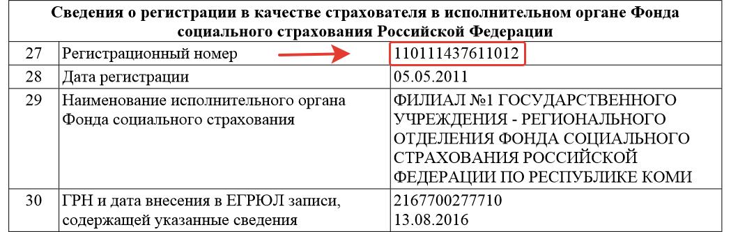 Как узнать регистрационный номер ФСС по ИНН онлайн 2020